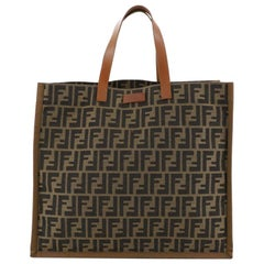 Fendi Open Shopping Tote Zucca Canvas Large