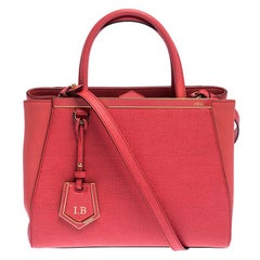 Fendi Orange Leather Petite Sac 2jours Elite Tote