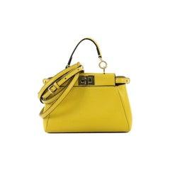 Fendi Peekaboo Bag Leather Micro