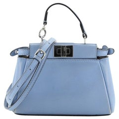 Fendi Peekaboo Bag Leather Micro