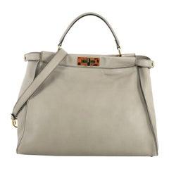 Fendi Peekaboo Bag Leather with Tortoise Detail Large