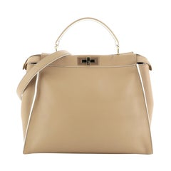 Fendi Peekaboo Bag Rigid Leather Large