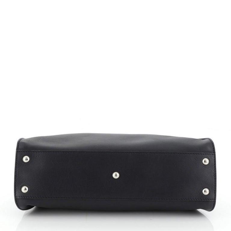 Fendi Peekaboo Bag Rigid Leather Regular  In Good Condition In New York, NY