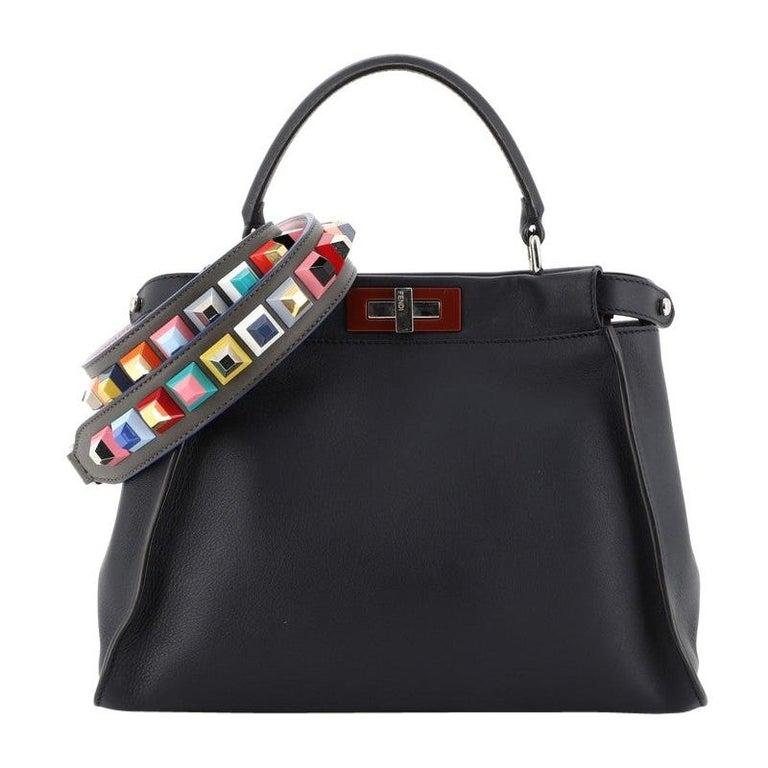 Fendi Peekaboo Bag Rigid Leather Regular