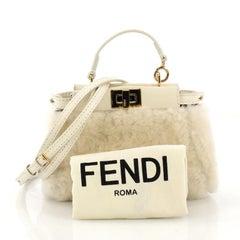 Fendi Peekaboo Bag Shearling Micro
