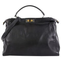 Fendi Peekaboo Bag Soft Leather Large