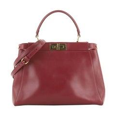 Fendi Peekaboo Bag Soft Leather Regular