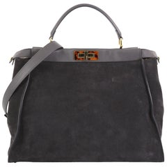 Fendi Peekaboo Bag Suede with Calf Hair Interior Large