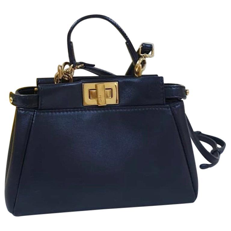 Fendi Peekaboo Black Micro Bag