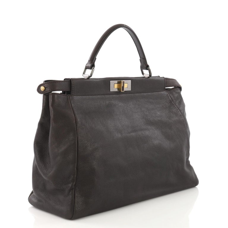 611ca116c4 Fendi Peekaboo Handbag Leather Large For Sale at 1stdibs