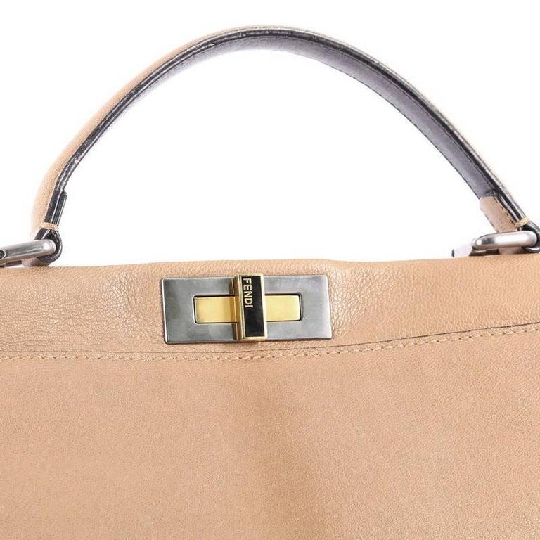 def6fd803e Fendi Peekaboo Handbag Leather Large For Sale 2