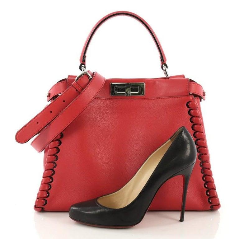 a9ef79162a72 Fendi Peekaboo Handbag Whipstitch Leather Regular at 1stdibs