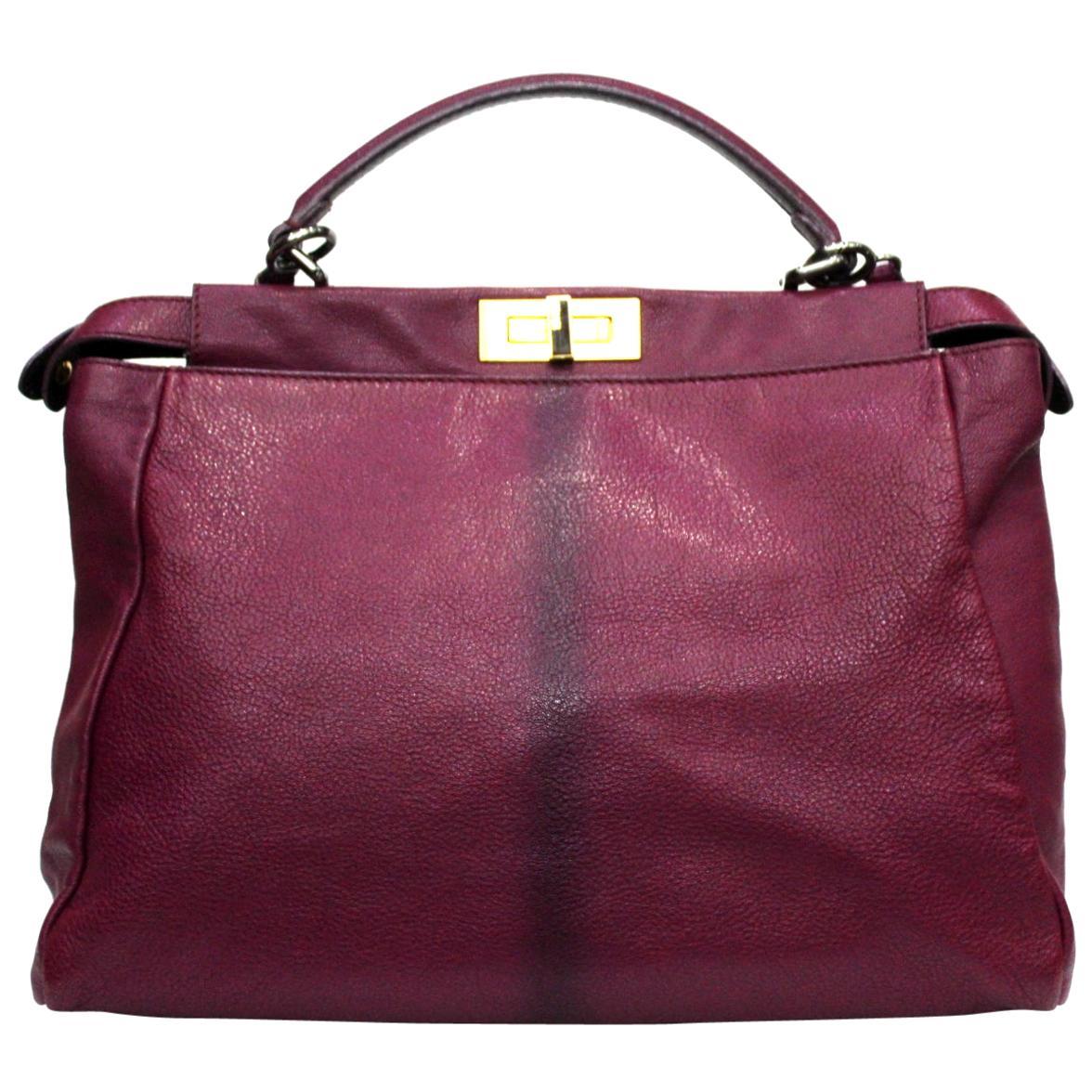 Fendi Peekaboo Large Size Shoulder Bag