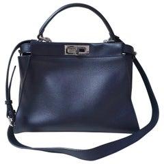 Fendi Peekaboo Medium Special Edition Black Leather Monster Bag