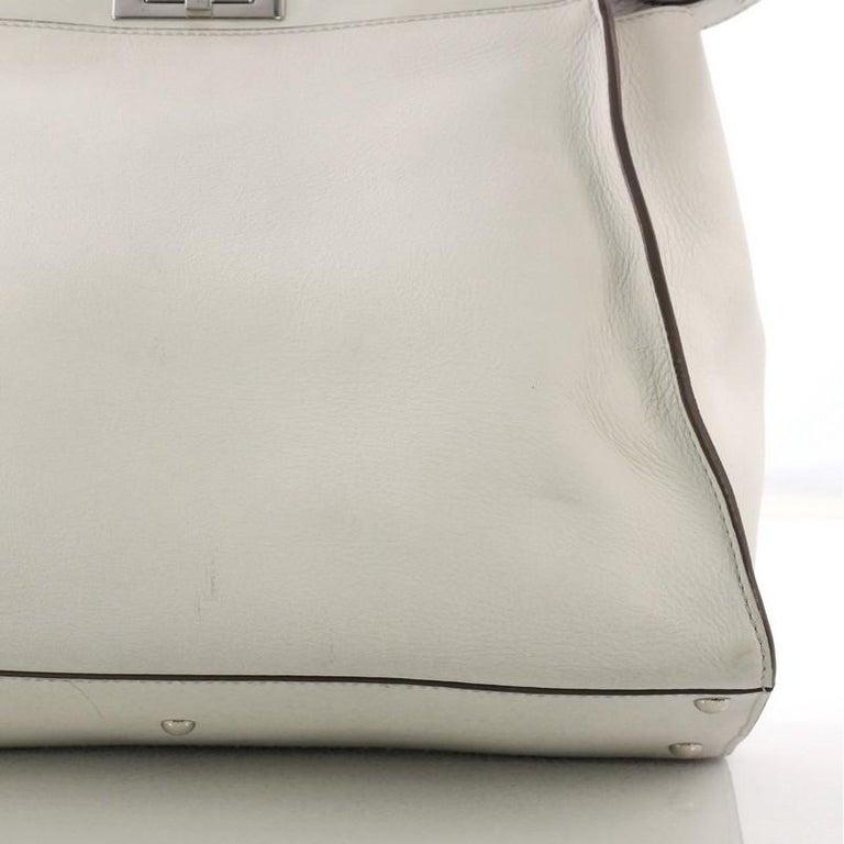 091866cc5651 Fendi Peekaboo Monster Handbag Leather with Fur Interior Large For Sale 4