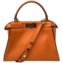 Fendi Peekaboo Orange Leather Bag