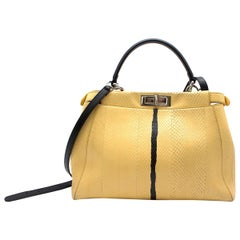 Fendi Peekaboo Regular Lemon Yellow Handbag
