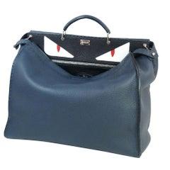 FENDI PEEKABOO Selleria business bag 7VA354 2MR F0W4Q blue x black