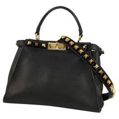 FENDI PEEKABOO Womens handbag 8BN290SR5F0KUR black/ gold hardware