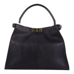 Fendi Peekaboo X-Lite Handbag Leather Large