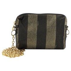 Fendi  Pequin Crossbody Bag Metallic Canvas Small