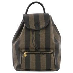 Fendi Pequin Front Pocket Backpack Coated Canvas Medium