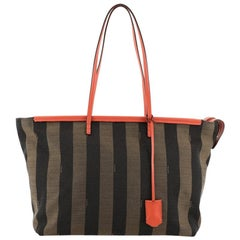 Fendi Pequin Roll Tote Canvas Large
