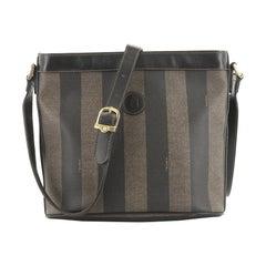 Fendi Pequin Shoulder Bag Canvas Small