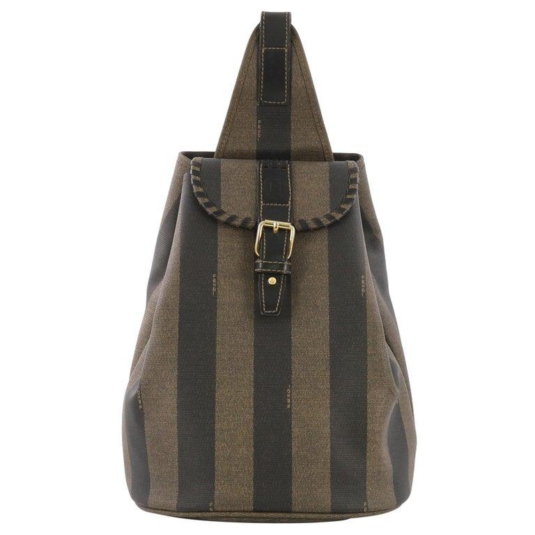 540578c1c136 Fendi Pequin Sling Backpack Coated Canvas Medium For Sale at 1stdibs