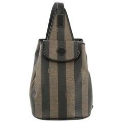 Fendi Pequin Sling Backpack Coated Canvas Medium