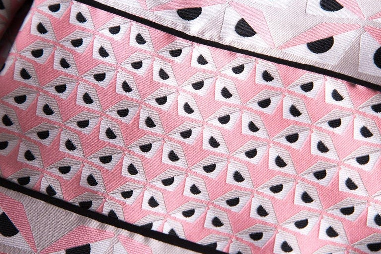 Women's FENDI  Pink Jacquard Monster Dress SZ 36 For Sale