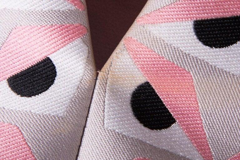 FENDI  Pink Jacquard Monster Dress SZ 36 For Sale 1