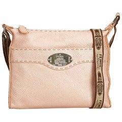 Fendi Pink Leather Selleria Crossbody Bag