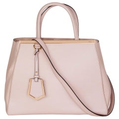 FENDI pink leather TWO TONE 2JOURS MEDIUM TOTE Shoulder Bag