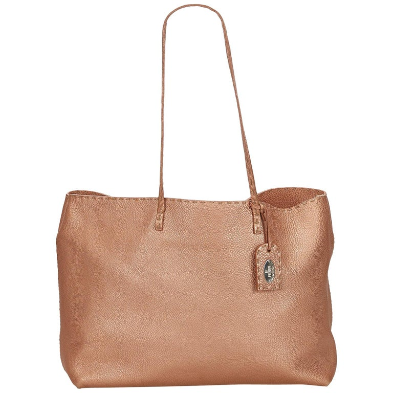 Fendi Pink Selleria Leather Tote Bag at 1stdibs 9b68537879ca4