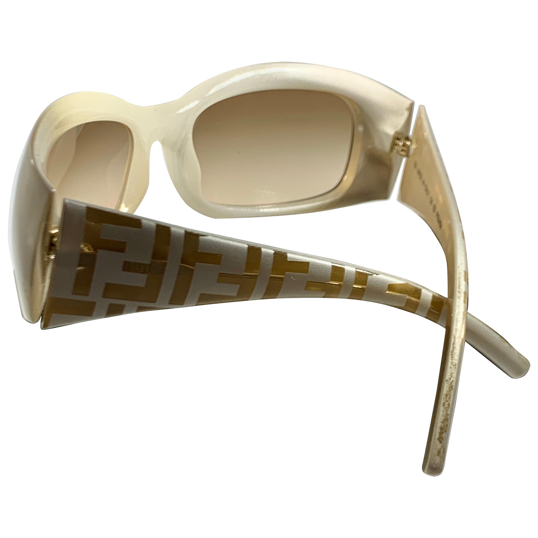 Fendi Pre Loved  FS 299  264  59-18  130 White  Women Sunglasses, Made in Italy