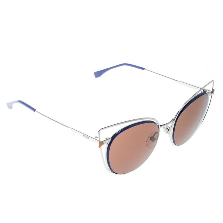 8bd49640c100 Fendi Purple Brown FF 0176 S Cat Eye Sunglasses For Sale at 1stdibs