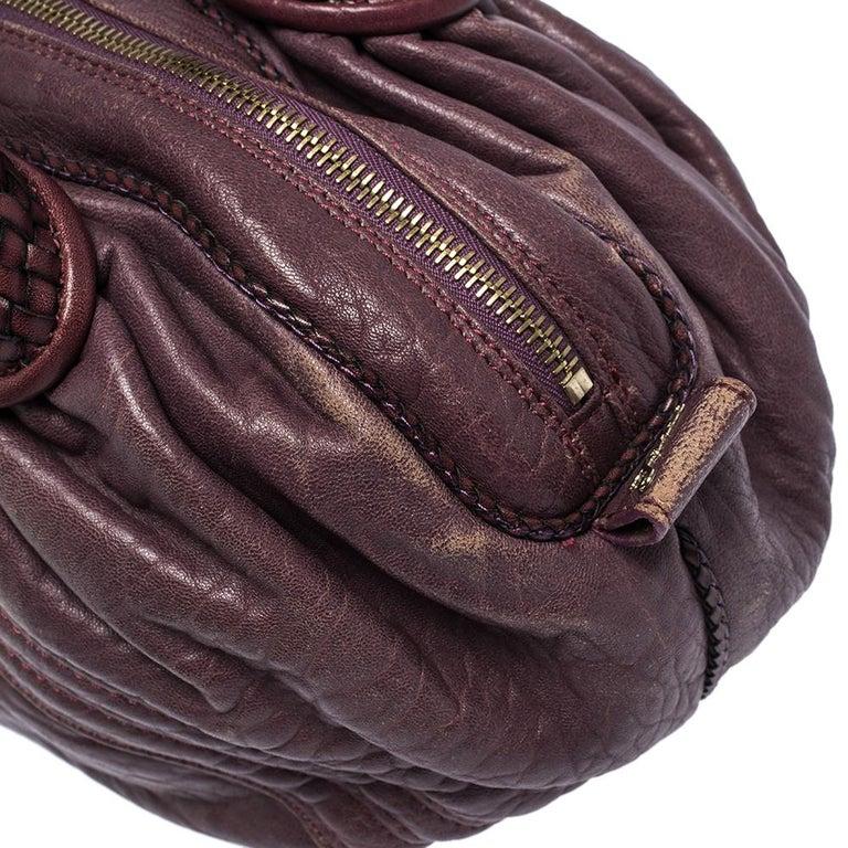 Fendi Purple Leather Mini Spy Hobo For Sale 5