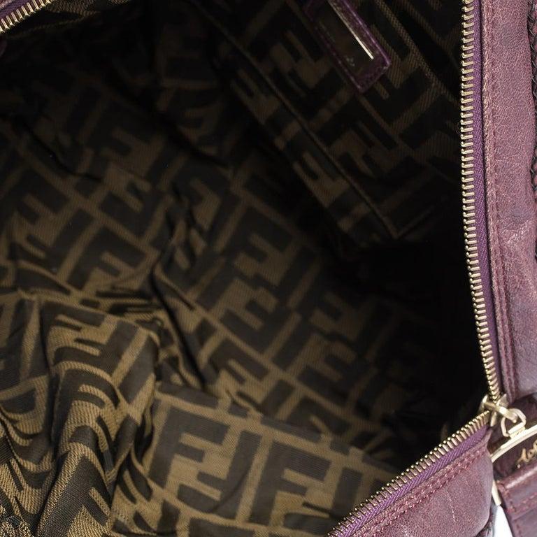 Fendi Purple Leather Mini Spy Hobo For Sale 6