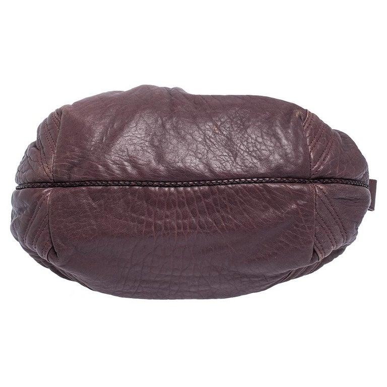 Fendi Purple Leather Mini Spy Hobo For Sale 8