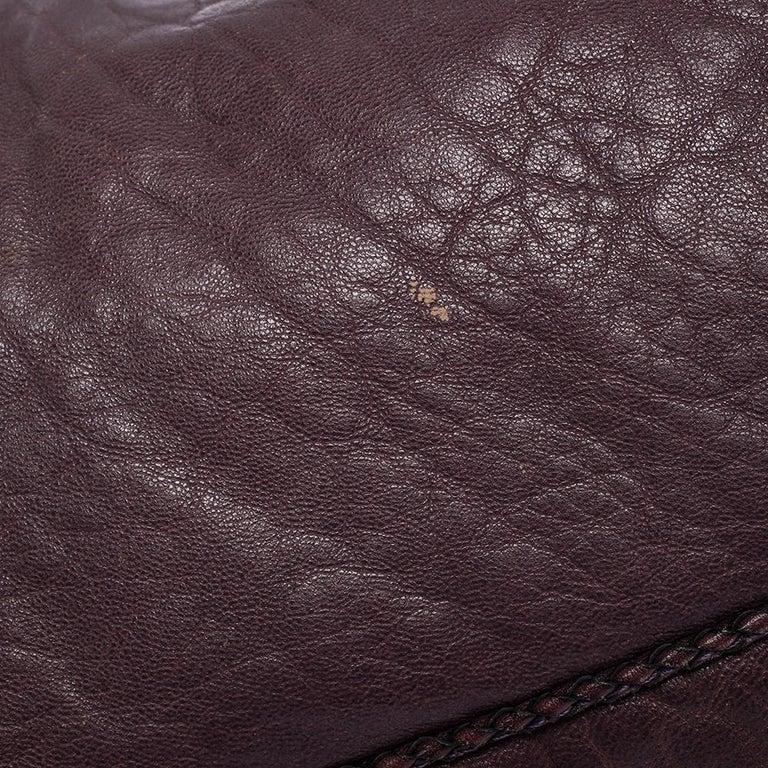 Fendi Purple Leather Mini Spy Hobo For Sale 9