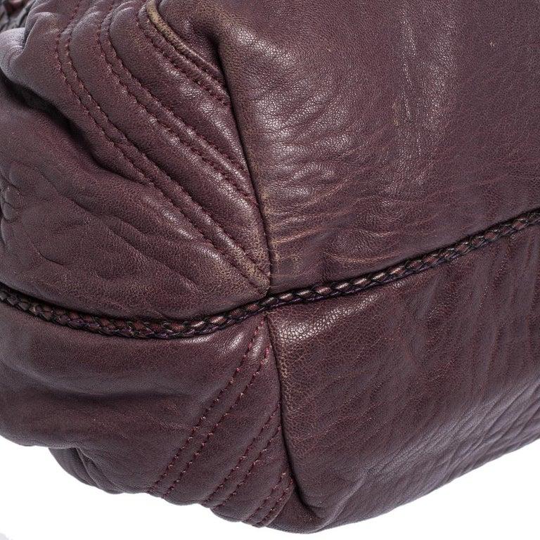 Women's Fendi Purple Leather Mini Spy Hobo For Sale