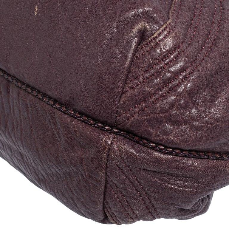 Fendi Purple Leather Mini Spy Hobo For Sale 1