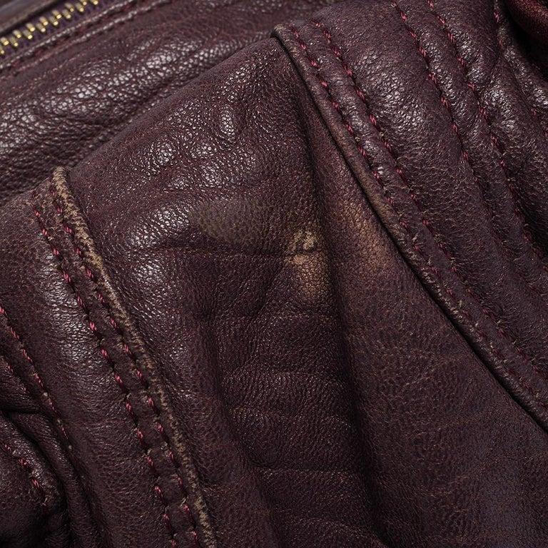 Fendi Purple Leather Mini Spy Hobo For Sale 2