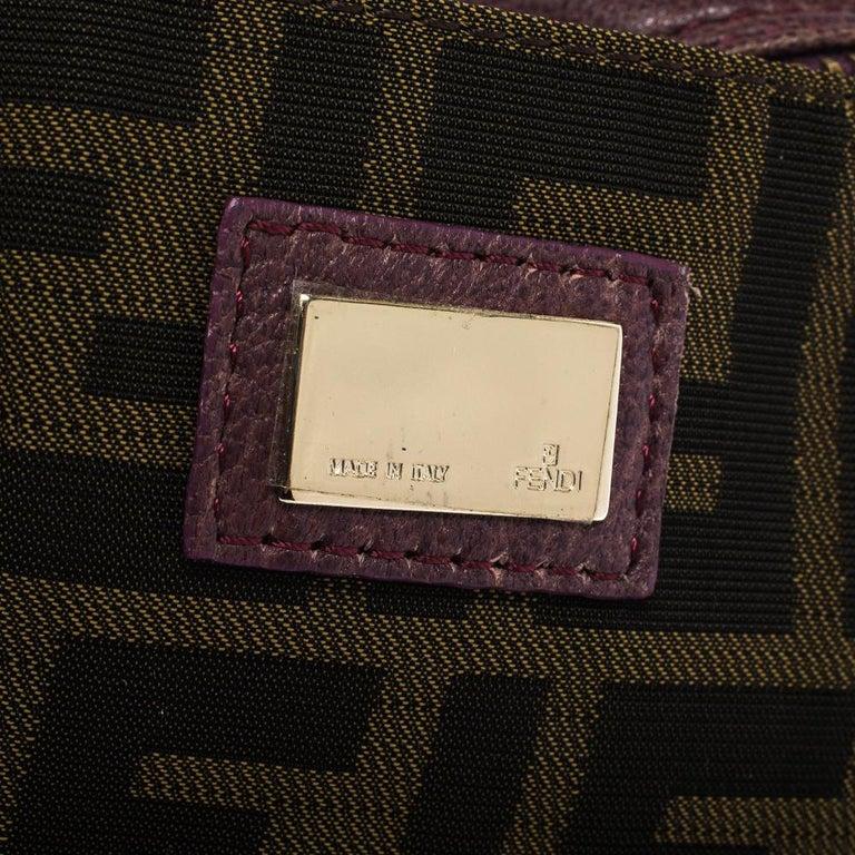 Fendi Purple Leather Mini Spy Hobo For Sale 3