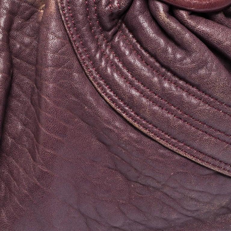 Fendi Purple Leather Mini Spy Hobo For Sale 4