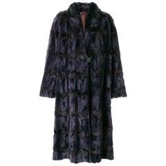 Fendi Purple Mink and Fox Fur Vintage Coat, 1990s