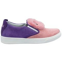 Fendi Purple & Pink Slip-On Sneakers
