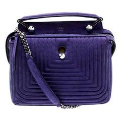 Fendi Purple Quilted Nubuck Leather Dotcom Click Shoulder Bag