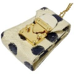Fendi 1980s Python Mini Pouch Necklace